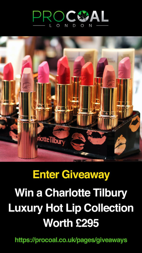 UK Giveaway @procoaluk: PROCOAL – Charlotte Tilbury Hot Lip Collection Giveaway – Closes 10/30/2017