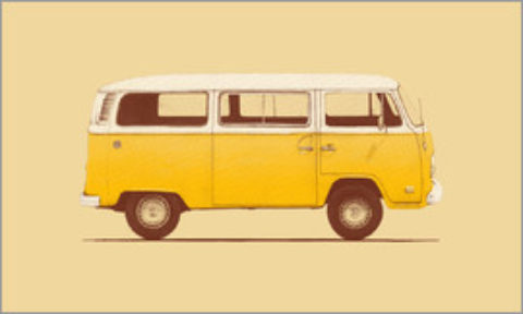 Blogger @elfvintage UK Giveaway: Win a VW Van Poster – Closes 09/30/2017