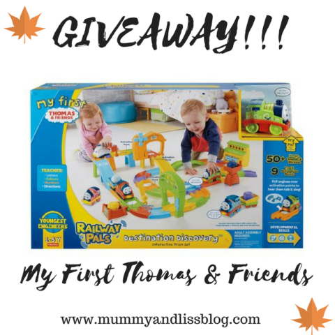 Blogger @mummyandliss_ Worldwide Giveaway: Thomas & Friends Destination Discovery Set – Closes 10/28/2017