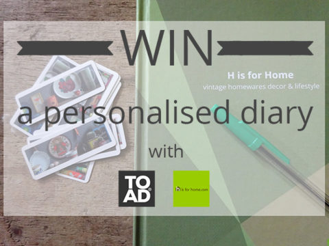 Blogger @hisforhome UK Giveaway: WIN a personalised & customised diary from TOAD® diaries – Closes 10/31/2017