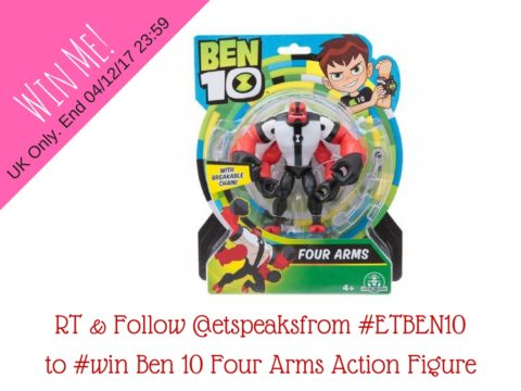 Blogger @etspeaksfrom UK Giveaway: Ben 10 Four Arms Action Figure – Closes 4th Dec 2017