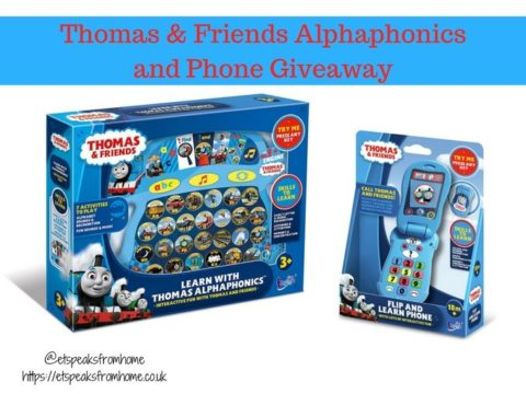 Blogger @etspeaksfrom UK Giveaway: Thomas & Friends Alphaphonics and Phone – Closes 9th Jan 2018