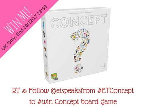 Blogger @etspeaksfrom UK Giveaway: Concept board game worth £30.99 – Closes 12/20/2017
