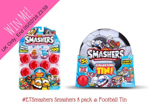 Blogger @etspeaksfrom UK Giveaway: Smashers 8pk worth £9.99 and Smashers Football Tin worth £7.99! (FB) – Closes 5th Feb 2018