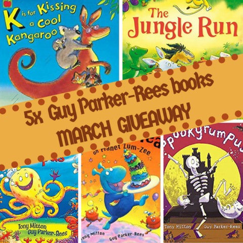 Blogger @suziewauthor Worldwide Giveaway: Win 5x fun Guy Parker-Rees picture books – Closes 03/31/2018