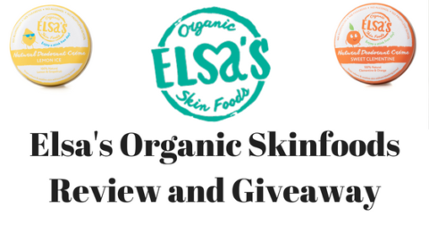 Blogger @stressedmum01 UK Giveaway: 2 Organic Creme Deodorants from @elsasorganics Skinfoods – Closes 18th Aug 2018