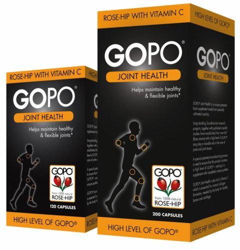 Blogging assignment: 12-week review of GOPO® Joint Health, a natural supplement derived from rose-hip. Closes 1st Oct 2018