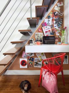 alcove desk nook understairs hotel style interiors hospitality layout design cool home chic styling