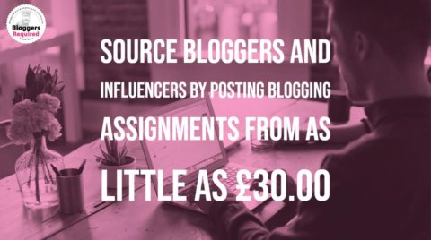 Post blogging & influencer assignments from as little as £30.00