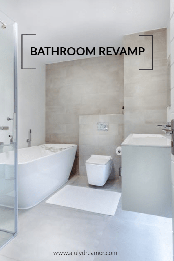 With the New Year around the corner, we've been thinking about budget-friendly ways to Revamp Bathroom in 2019. Regular readers will remember our Home Renovations has been ongoing throughout the year. The bathroom is often thought of as least important when it comes to giving the home a nice retouch and spruce some life into it. In our home, we've neglected the bathroom long enough and have compiled cheap ways to Revamp Bathroom in 2019.
