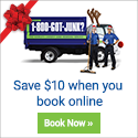 Happy Haul-idays! Save $10 when you book online at 1-800-GOT-JUNK?