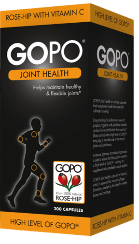 UK blogging assignment: 12-week review of GOPO® Joint Health, a natural supplement derived from rose-hip. Closes 21 Feb 2020